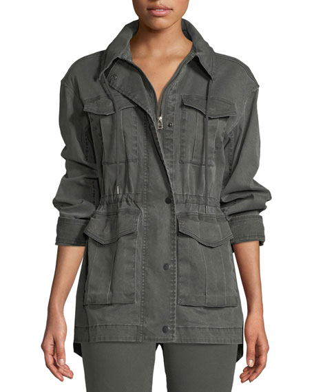 ATM Anthony Thomas Melillo Field Zip-Front Utility Jacket