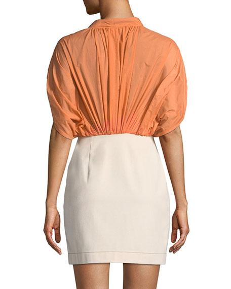 REJINA PYO Yana Ruched Short-Sleeve Dress
