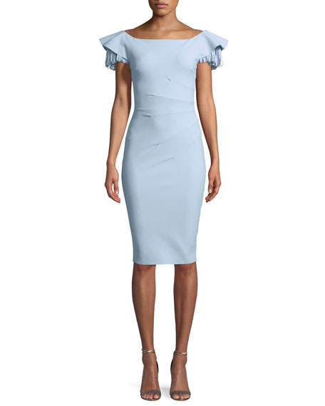 Chiara Boni La Petite Robe Julienne Tiered-Sleeve Cocktail