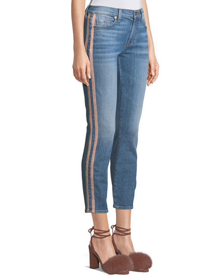 7 for all mankind Roxanne Straight-Leg Ankle Jeans