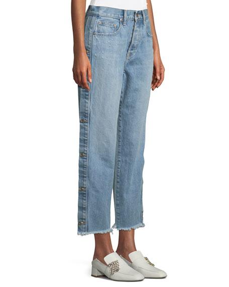 Manfriend Button-Down Wide-Leg Jeans