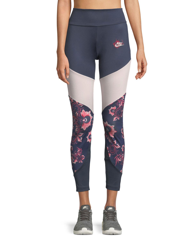 new arrival 6dc39 cdb4e Nike Sportswear Essential Floral-Print Leggings