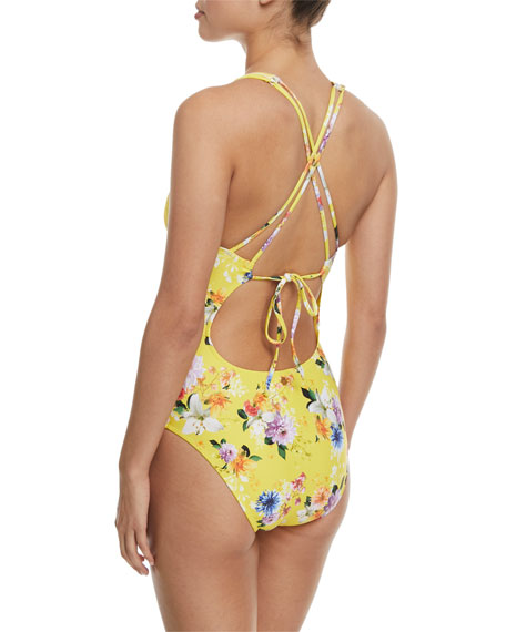 Monaco Bouquet Goddess One-Piece Swimsuit