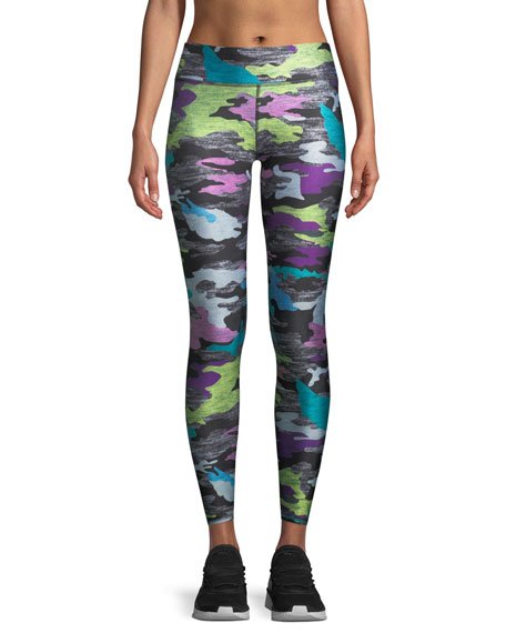 Terez Multicolor Camo-Print Heathered Tall Band Leggings