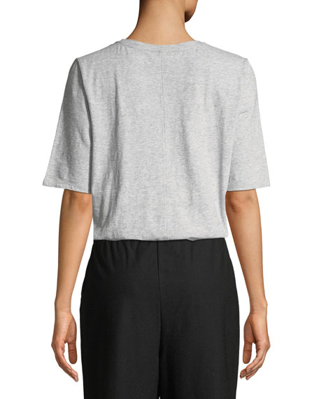 Eileen Fisher Petite Slubby Organic Cotton Shirt