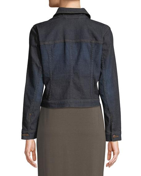 Cropped Organic Cotton Stretch Denim Jacket