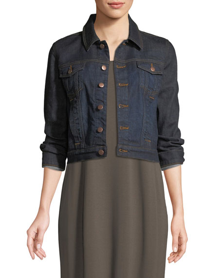 Eileen Fisher Cropped Denim Jacket and Matching Items