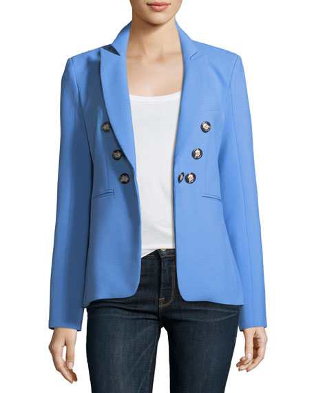 Veronica Beard Colson Peak-Lapel Double-Breasted Jacket and