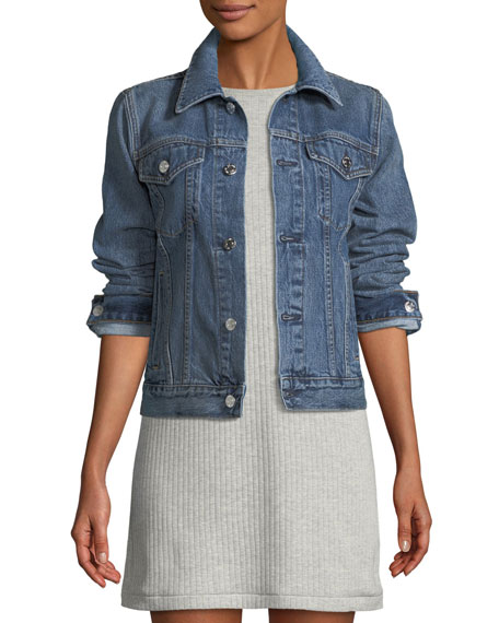 Helmut Lang Striped Denim Jacket and Matching Items