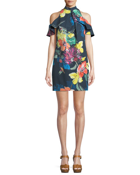 Trina Turk Amado Splendor in the Garden Cold-Shoulder