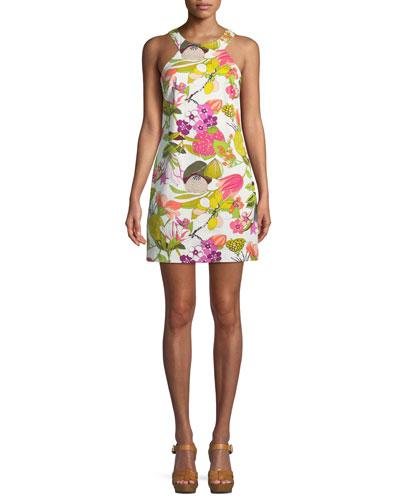 Aptos Secret Garden Stretch Cotton Twill Dress