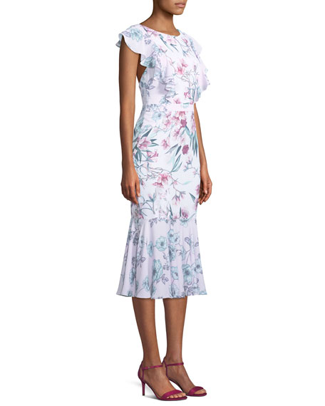 The Janine Floral Crisscross Midi Dress