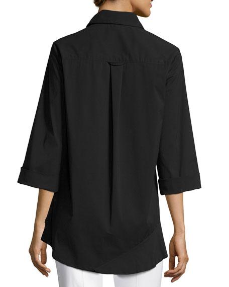 Jenna Tiered-Ruffle Long Blouse, Plus Size