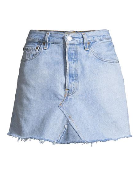 Vintage One-of-a-Kind Denim Mini Skirt
