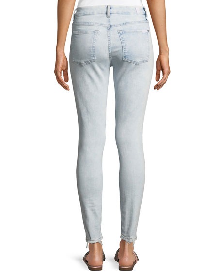 High-Waist Ankle Skinny Jeans