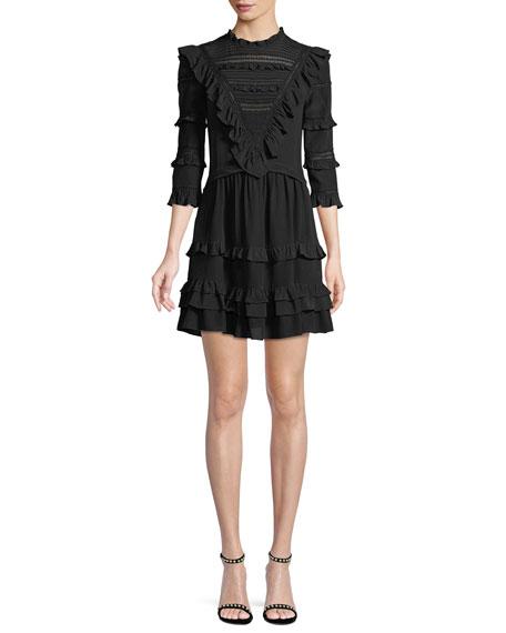 Silk Lace Mini Dress