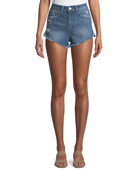 DL1961 Premium Denim Cleo High-Rise Cutoff Shorts