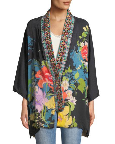 Fuskha Floral-Print Kimono, Plus Size