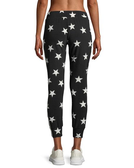 Star-Print Side-Stripe Jogger Pants
