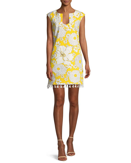 Always Sunny Lura Tassel-Trim Mini Dress