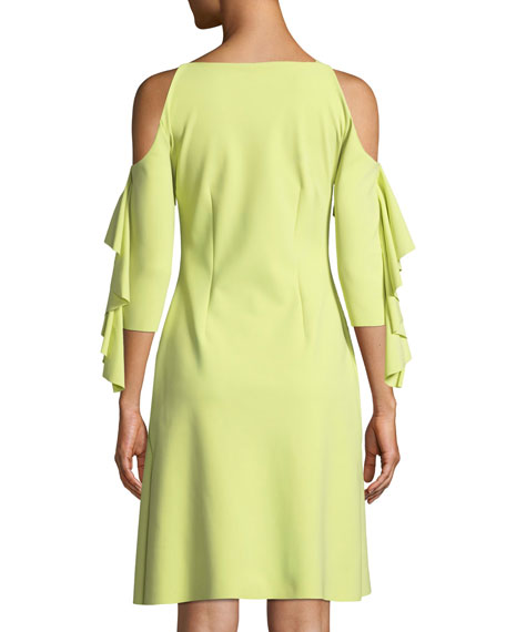 Marcellina Cold-Shoulder Ruffle Dress