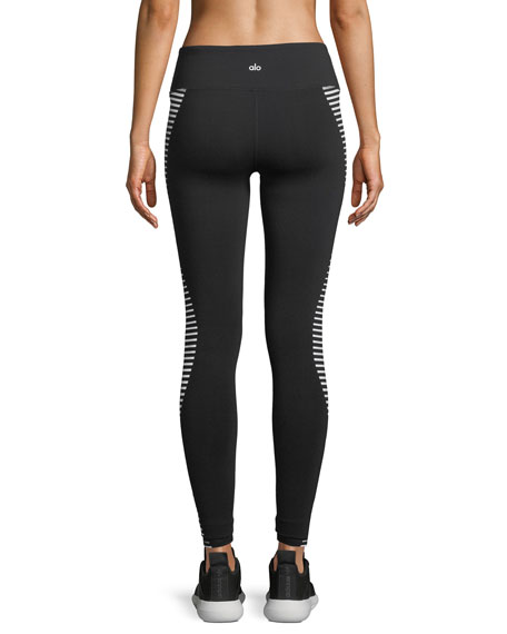 Airbrush Wave-Stripe Sport Leggings