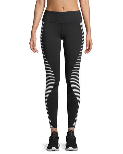 Airbrush Wave-Stripe Sport Leggings