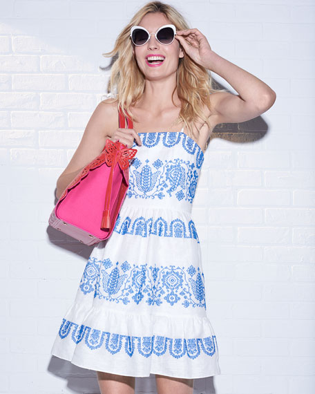 Mila Mini Flare Tie-Strap Dress