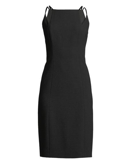 Adelia Neck-Cutout Sheath Dress