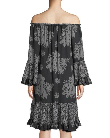 Nastasia Off-the-Shoulder Shift Dress