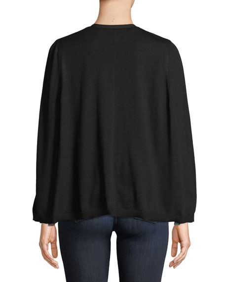 Brette Split-Sleeve Cardigan Sweater