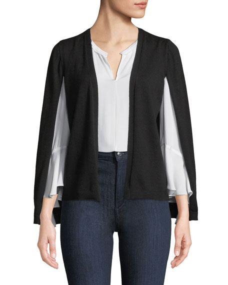 Kobi Halperin Brette Split-Sleeve Cardigan Sweater