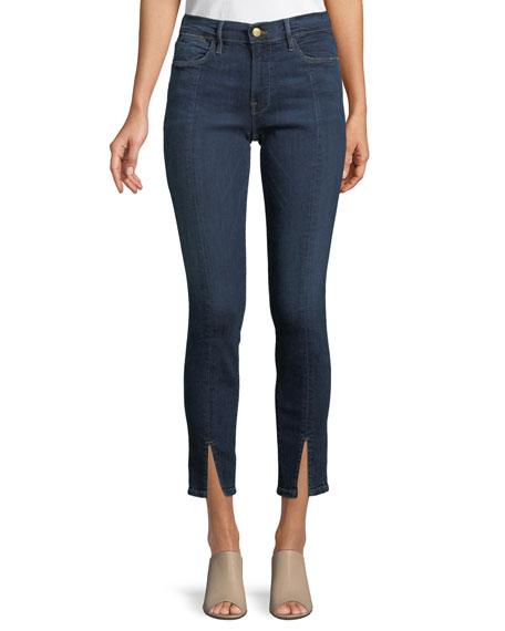 FRAME Le High Split-Front Skinny Jeans