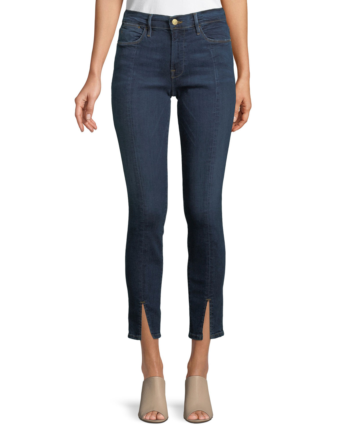 3a34d6bf329a5 FRAME Le High Split-Front Skinny Jeans