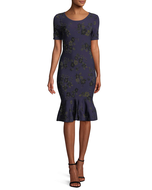 d5ec6a02dcd7 Milly Twilight Floral Mermaid Dress   Neiman Marcus