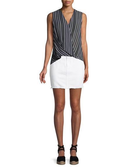 Moss Classic Denim Skirt w/ Released Hem