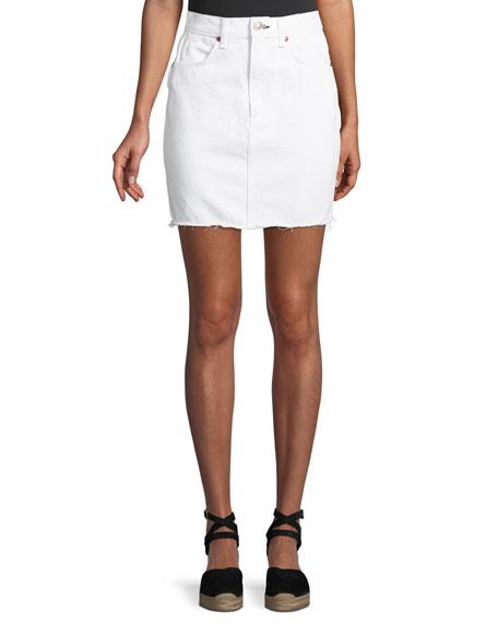 Rag & Bone Moss Classic Denim Skirt w/
