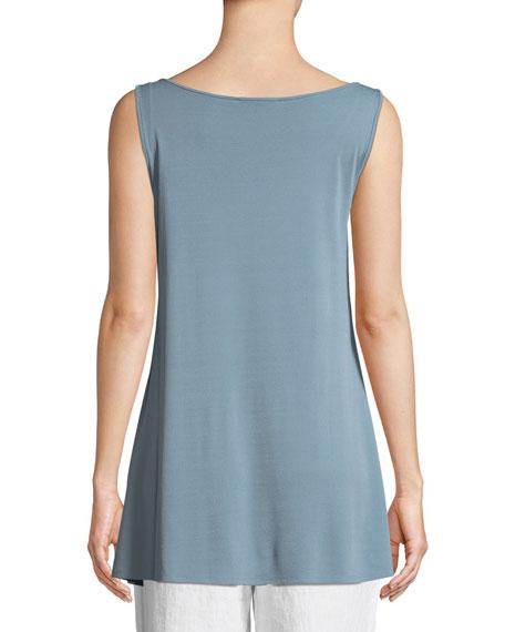 Eileen Fisher Stretch-Silk Jersey Sleeveless Tunic