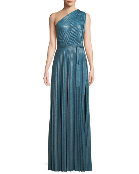 Elie Tahari Mistry Pleated One-Shoulder Dress