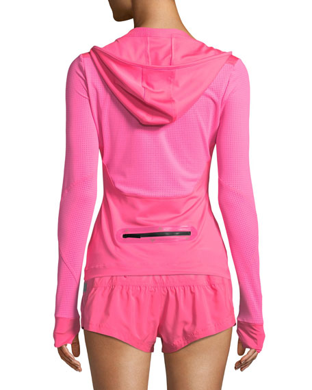 Run Hooded Long-Sleeve Performance Top