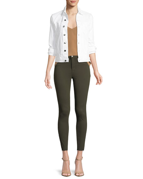 Margot High-Rise Skinny Jeans w/ Unfinished Hem