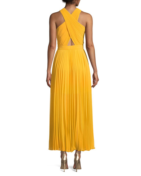 Elenita Pleated Cocktail Dress