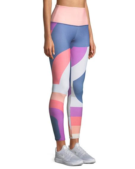 High-Rise Printed Performance Leggings