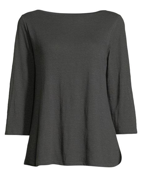Half-Sleeve Linen Jersey Layering Tunic
