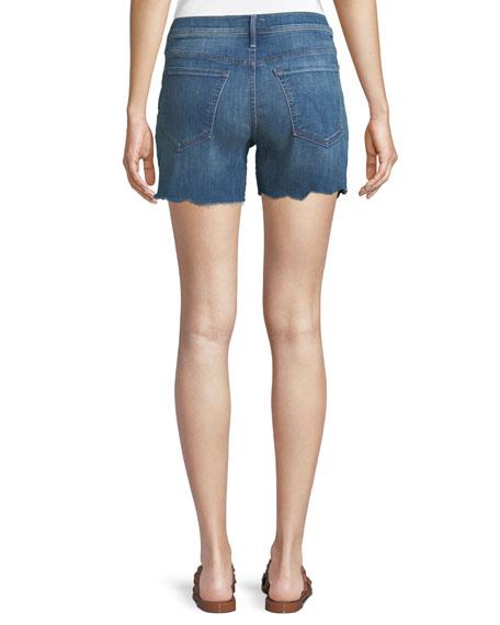 Sinner Frayed Denim Shorts