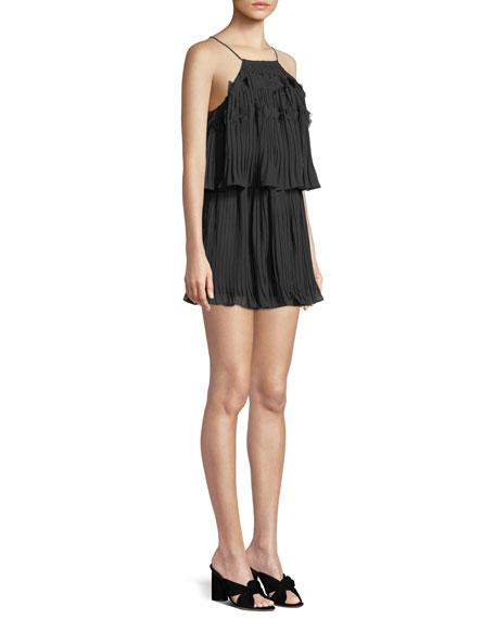 Shauna High-Neck Sleeveless Mini Dress