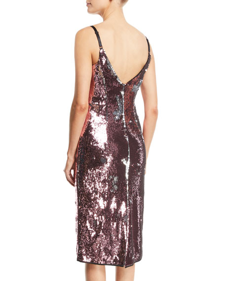 Jessica Sequin Dress w/ Adjustable Straps