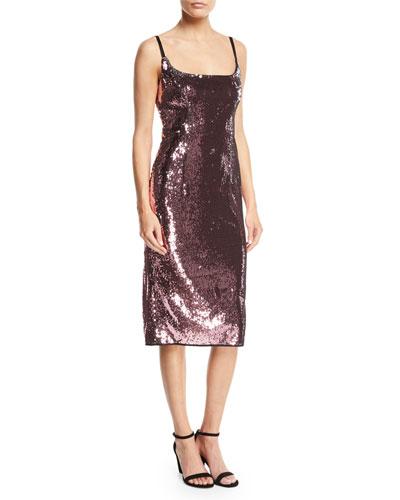 Jessica Sequin Dress w/ Adjustable Straps