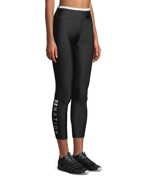 PE Nation Offside Cropped Performance Leggings