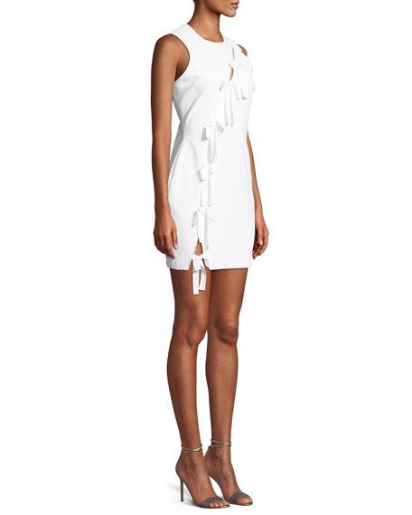 Vita Tie-Front Sleeveless Mini Dress